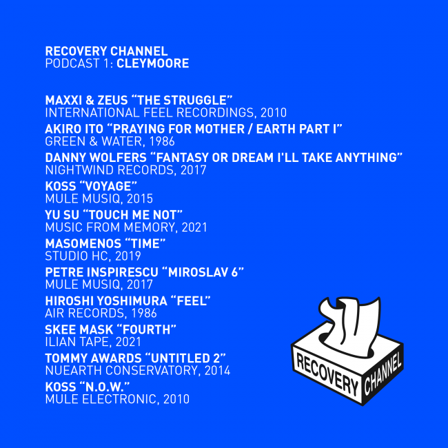 recovery tracklisting